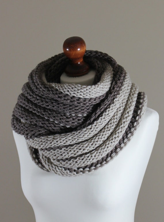 cowl  in light and dark camel color