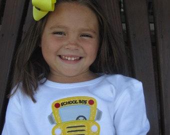 Personalized School Bus Shirt Girl or Boy