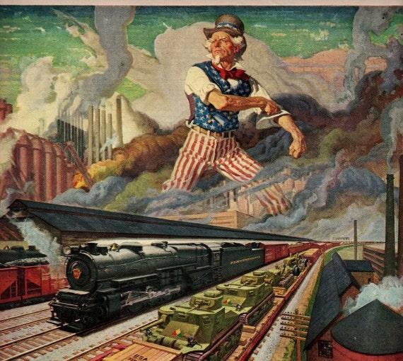 vintage pennsylvania railroad 1942 advertisement