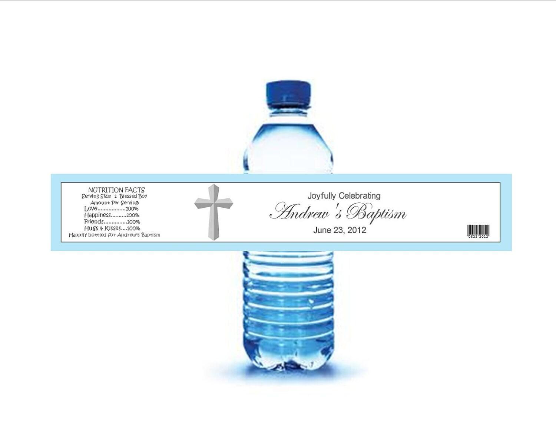 baptism christening water bottle labels diy by