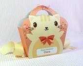 Kawaii Cat Giftbag Cute Valentine's Day Easter Love Birthday Party Treat basket Cat Bag Packaging Editable Printable PDF