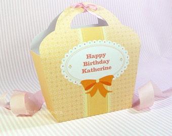 Kawaii Sweet Love Cream Giftbag Cute Valentine's Day Easter Love Birthday Party Treat basket Sweet Bag Packaging Editable Printable PDF