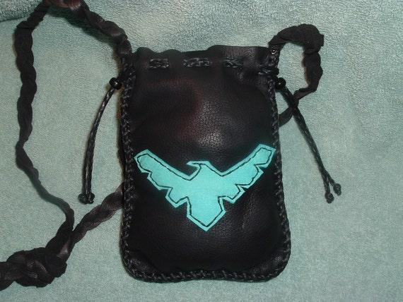 Special listing for (((Erica)))    Medicine Bag Robin super Hero Leather Bag Great for Kids Treasure Hunting
