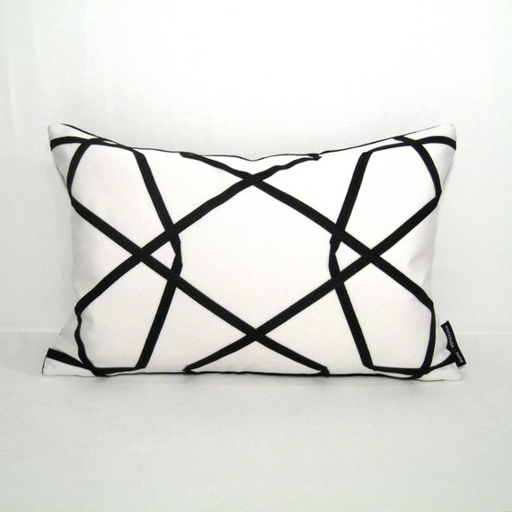 Decorative Outdoor Pillow Cover Modern Black Amp White By
