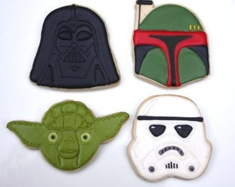 One Dozen Star cookie favors Wars