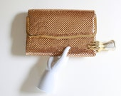 Vintage Gold Mesh Purse - Clutch - Handbag