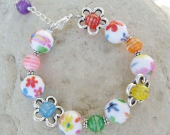 Goes With Everything Flower Bracelet