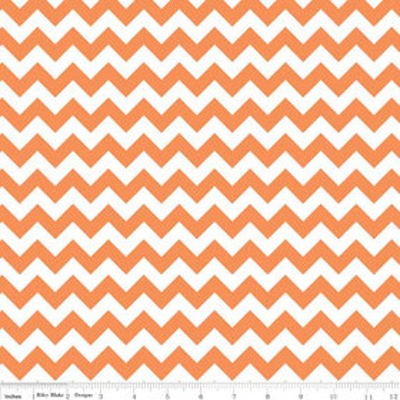 Chevron Zig Zag Fabric 1 cm Wide RB small size Orange