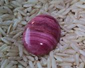 Quartz/Rhodochrosite Pink striped Cabochon Gemstone