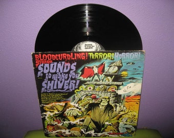SHOP CLOSING SALE Vinyl Record Album Sounds to Make You Shiver Haunted House Music Lp 1974 Halloween Horror Sound Effects