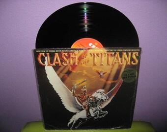 Rare Vinyl Record Clash of the Titans Original Soundtrack LP 1981 Classic Harryhausen