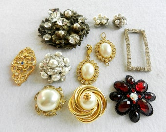 1960s vintage italian  - for the bridal bouquet -11 high fashion items,for all your artistic work.--Art.365 -