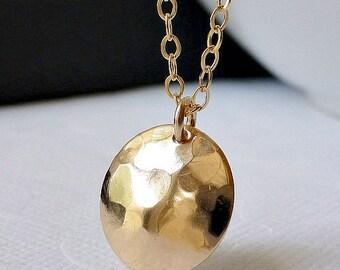 """Disc Necklace - 14K Goldfilled - """"Soleil"""" Necklace......."""