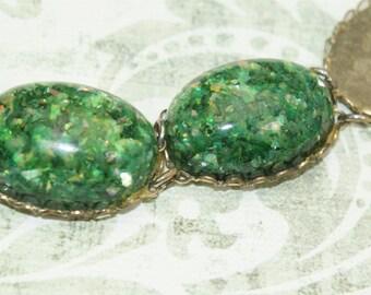 Vintage Green Link Bracelet AS-IS