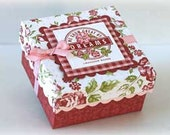 DIY Pattern for cute 3 inch box with lid - PDF Step by Step Instructions with Photos