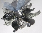The Witching Hour, hand shaped glass leaves,handmade in Bristol, lampwork beads,SRA, CPteam.