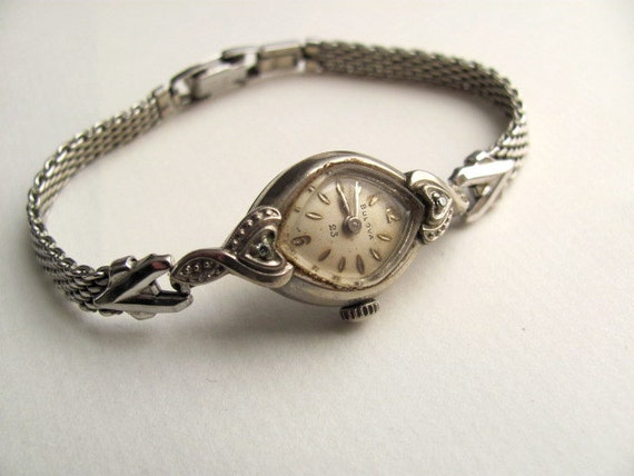 Antique Womens Bulova Watch Bracelet 10k Rolled Gold Plate