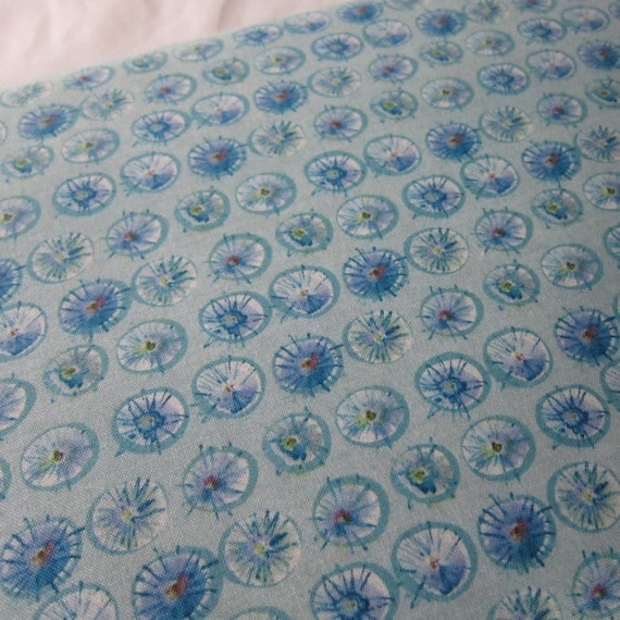 Dewdrops in Cornflower from the Wildflower Collection by Kathy Davis 100% Cotton Fabric from Free Spirit   - 1/2 YD