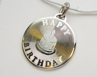 SS Happy Birthday Disc Charm