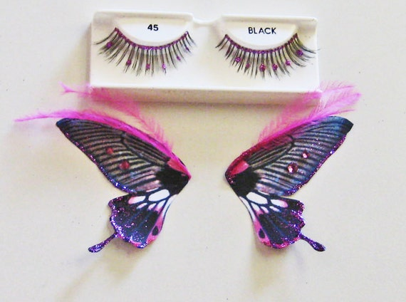 Black and Pink Butterfly Eyes