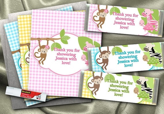 Baby Shower Favors Candy Bar Wrappers ~ Hershey candy bar wrappers baby shower favors by