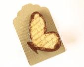 Wooden Butterfly Brooch - RETRO WORDS BUTTERFLY