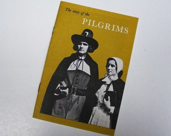 The story of the pilgrims 1956 thanksgiving plymouth rock puritan john hancock mutual life insurance