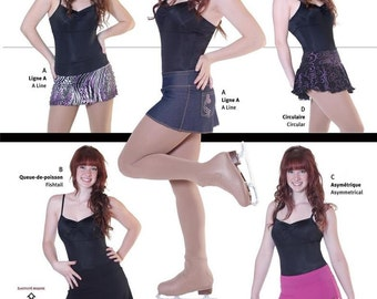 Jalie Figure Skating Skirts Attached Brief 4 Styles Costume Sewing Pattern  3025