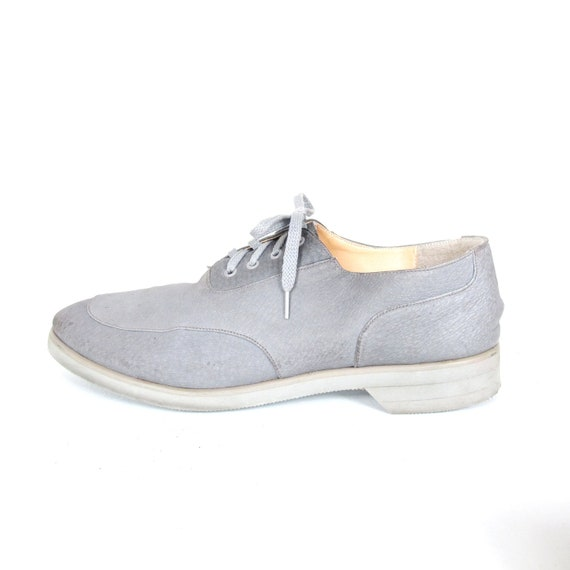 70s Soft Grey Mens Leather Oxfords (11)