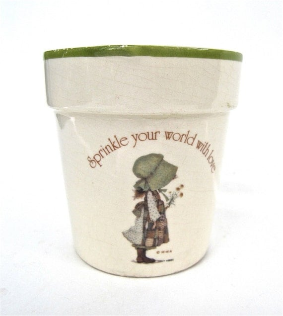 Sprinkle Your World With Love Holly Hobbie Flower Pot