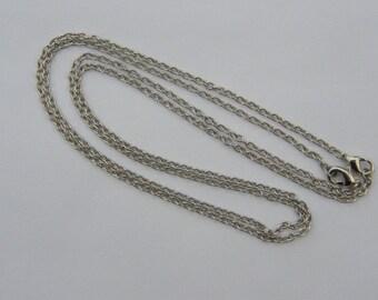 """BULK 12 Necklace chains 46cm 18"""" silver tone"""