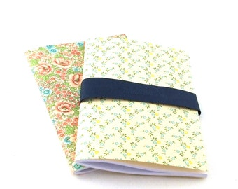 2 pocket size cahier with Italian patterned paper, notebooks