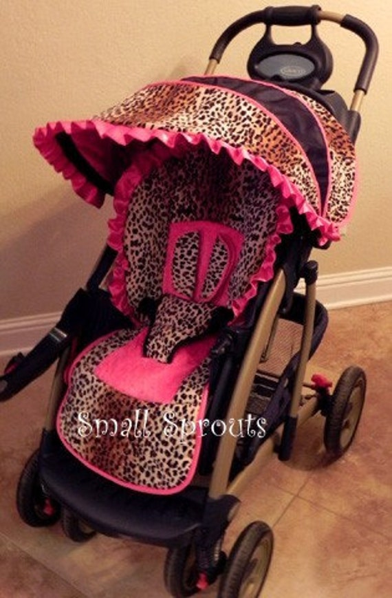 Custom Boutique Stroller Seat Cover And Canopy Choose Your