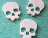 3 x Skull laser cut pendants - any colour