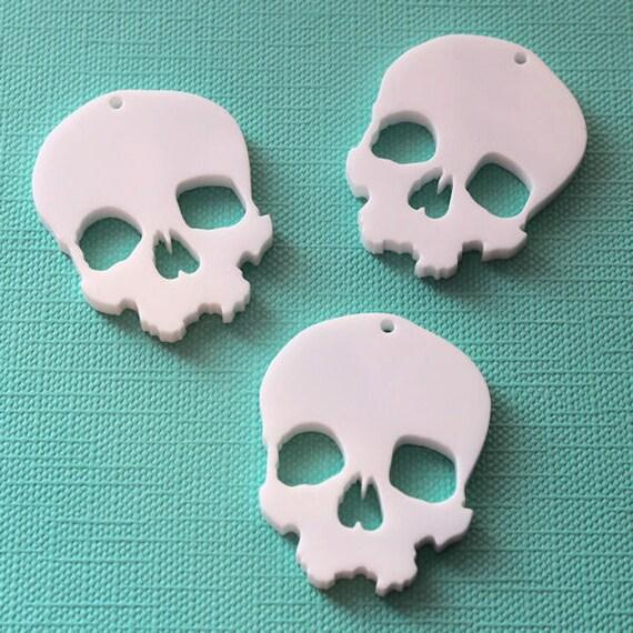 3 x Skull laser cut pendants - any colour
