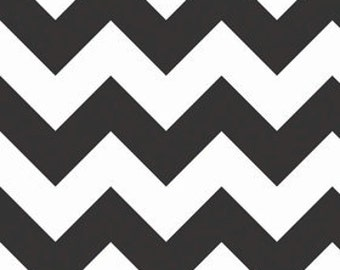 Chevron in Black LARGE by Riley Blake Designs 1/2 yard total