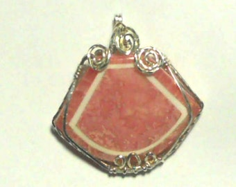 Intarsia Rhodocrosite and Magnitite in Sterling Silver
