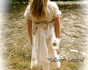 Elisabeth's Big Sister Victorian Inspired ShaBby Chic Vintage Flower Girls Dress /  Easter / Communions / Weddings / Portraits /  Birthdays