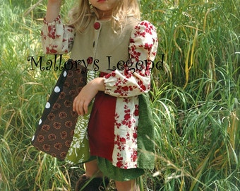 """The One Of A KinD Funky-Butt Patchwork """"Mia"""" Dress Sizes 3T-8 girls"""