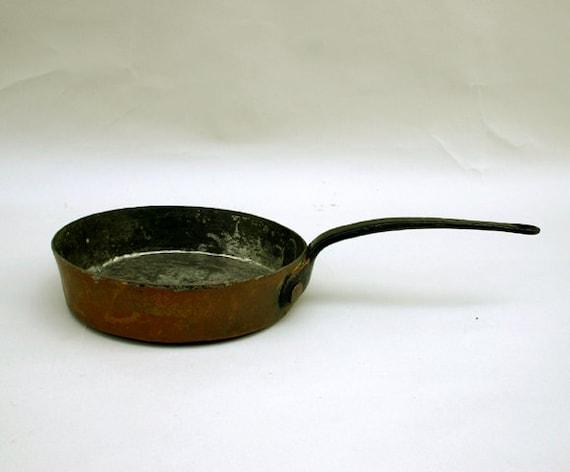 Antique Copper Saute Pan / L.F.D.& H. Wooster Copper Pan