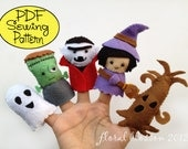 Digital Pattern: Halloween Friends 02 Felt Finger Puppets