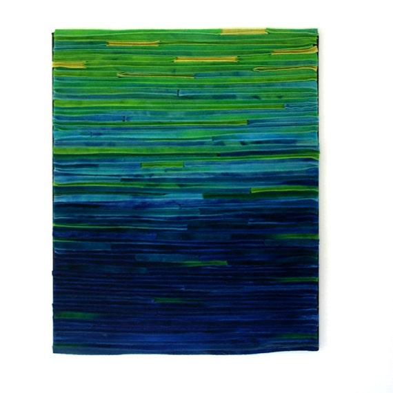 Abstract Textile Fiber Art Wallhanging / Dappled Sunlight