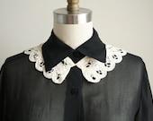 Ecru Lace Crochet Collar - Detachable Collar