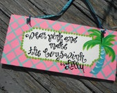 LiLLy inspired art plaque, wall art, design your own sign,  custom........whimsical wall and door art......personalized