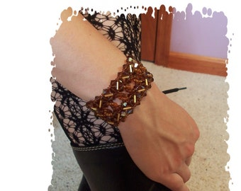 Tic Tac Cuff Bracelet, Beading Tutorial in PDF