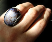 Reserved Purple Handmade Ring, Sterling Silver, Lightning Storm, BOGO, Customized Size, OOAK Gift