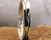 Flat Braided Argentium Silver Stacking Ring