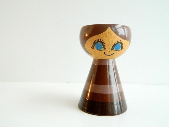 Mod Helen Mogens Wood Doll Candle Holder from Denmark