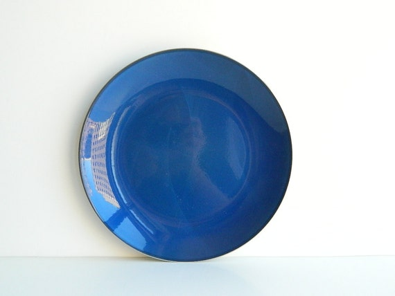One Cathrineholm Blue Enamel Plate Norway