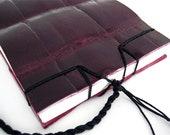 Alligator Notepad Handmade Leather Book